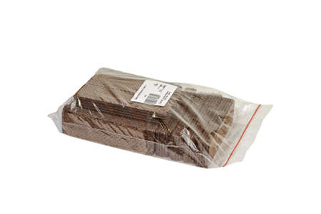 wafers: Chocolate wafers packed in a plastic bag. Stock Photo