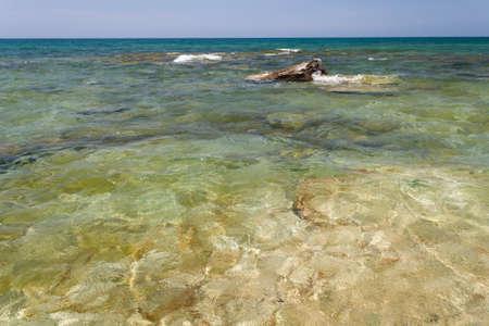 caspian: Caspian Sea in summer. Mangistau region - Kazakhstan.