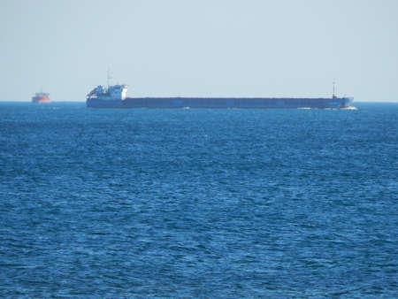 caspian: Tanker in the Caspian Sea. Kazakhstan.