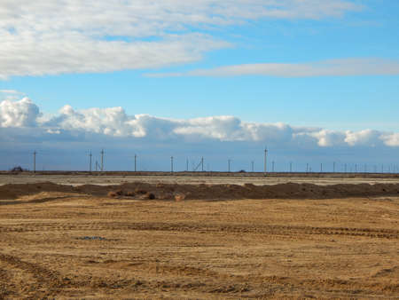 arid: Arid landscape, gas field. Kazakhstan