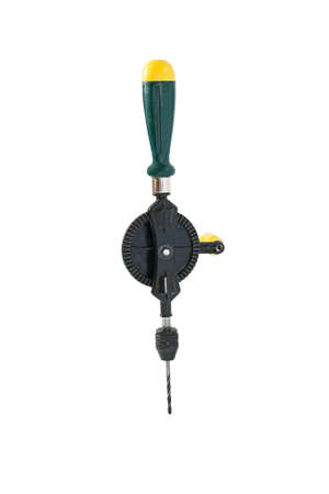 hand drill: New hand drill. Isolated on white background.