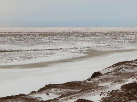 kazakhstan: Atyrau region. Kazakhstan. Steppe winter.