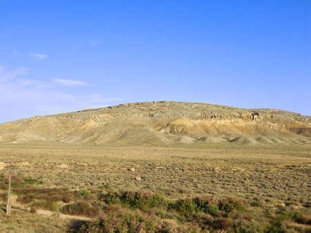 Steppe mountains. Kazakhstan. Mangistau region. In the Shetpe area. Stock Photo
