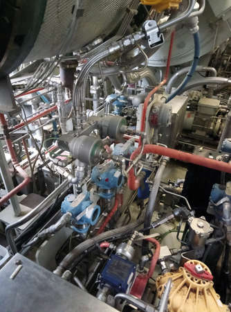 Gas turbine engine generator.Used to generate electricity. 免版税图像
