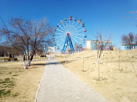 Ferris wheel in the city of Aktau. Kazakhstan. 写真素材
