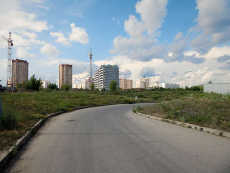 New buildings of the city of Lipetsk. Russia. 18 June 2019 year.