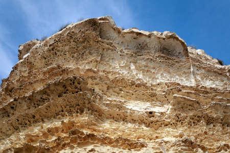 Rocks on the shore of the Caspian Sea.