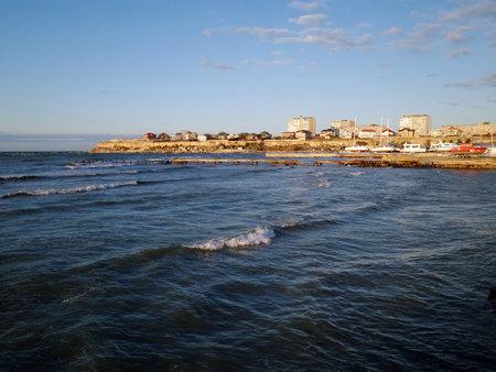 A city on the shores of the Caspian Sea. Kazakhstan. Mangistau region. Aktau city. 05 November 2019 year.