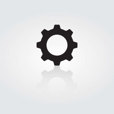 Settings icon. Gear symbol tool on white background. Vector. Illustration.