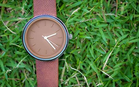 wrist watch: wrist watch on the grass