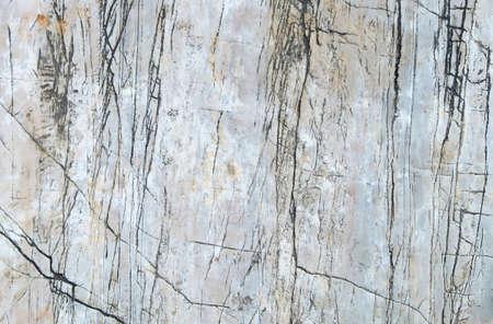 hardwearing: White stone with cracks on the surface.