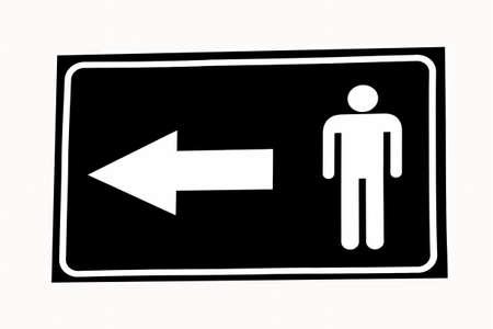 restroom sign: Vector Man restroom sign