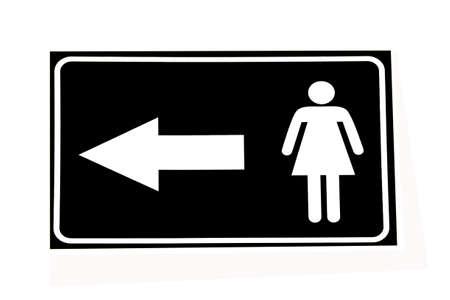 gent's: Vector Woman restroom sign