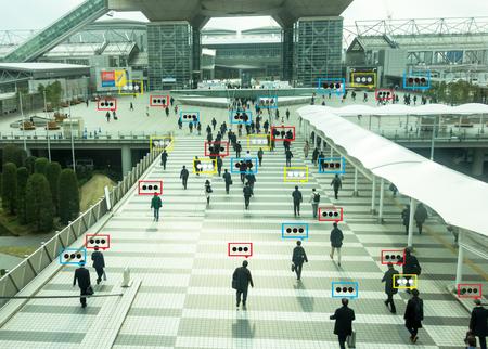 données de conversation en bulle la détection par la technologie futuriste dans la ville intelligente avec le concept d'intelligence artificielle à des mesures, concept analytique et identique, il invente à la classification, l'estimation, la prédiction