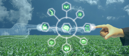 Smart Robotic (artificial intelligence/ ai) use for management , control , monitoring, and detect with the sensor in the farm, field.