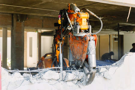 The Robot Equipment is destroying the walls of the house