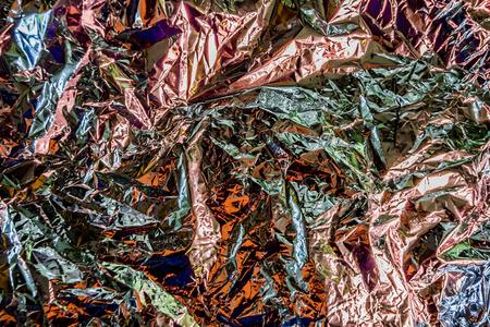 aluminum foil: aluminum foil is crumpled