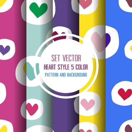 Herz-Muster und Hintergrund Vektor-Illustration