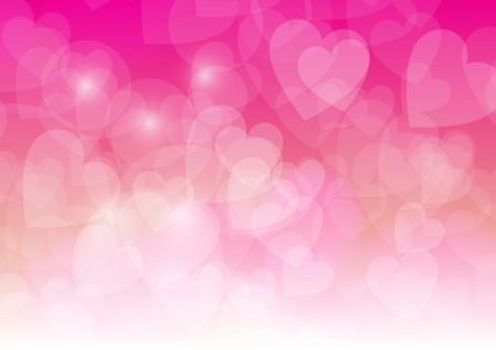 yellow star: Valentines Day Wallpaper. Heart Holiday Backdrop. Valentine Hearts Abstract Pink Background.