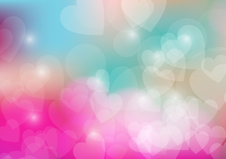 corazon: Valentines Day Wallpaper. Heart Holiday Backdrop. Valentine Hearts Abstract Pink Background.