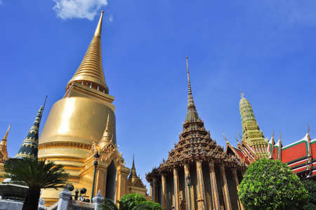 Gold Pagoda in Grand Palace ,Bangkok, Thailand photo