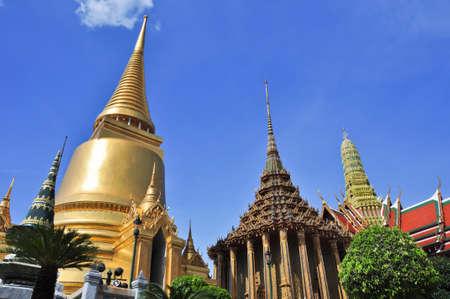 Gold Pagoda in Grand Palace ,Bangkok, Thailand photo