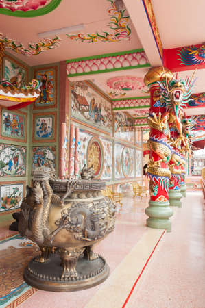 chinese incense burner in public temple, thailand photo
