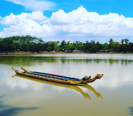 Scenery in Setu Babakan, Jakarta - Indonesia. Stock Photo