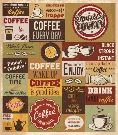 caf�: Raccolta di illustrazioni Coffee Design Elements Vector Vettoriali