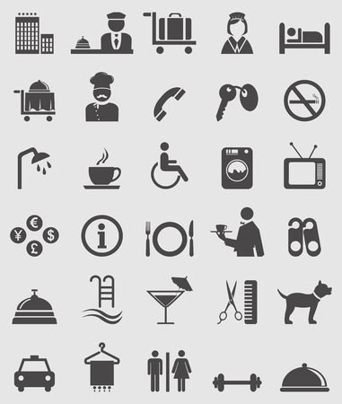 hotel bell: Hotel icons set