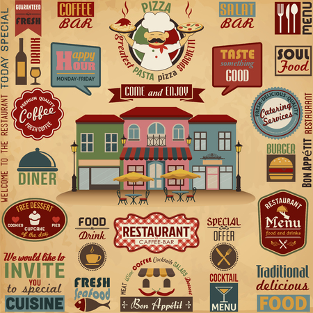 welcome sign: Collection of Restaurant Design Elements