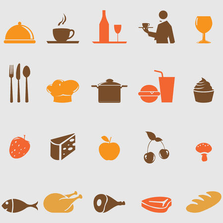 chicken leg: Food icons set