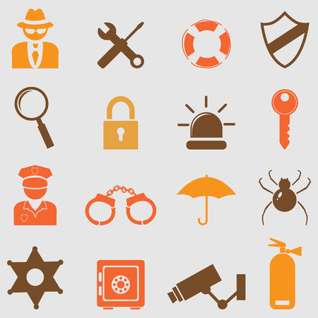 padlock icon: Security icons set