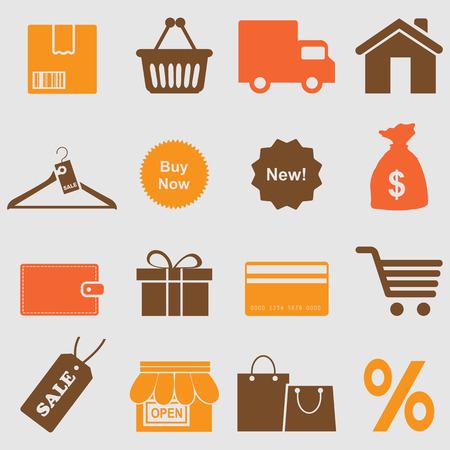 Shopping icons set Иллюстрация
