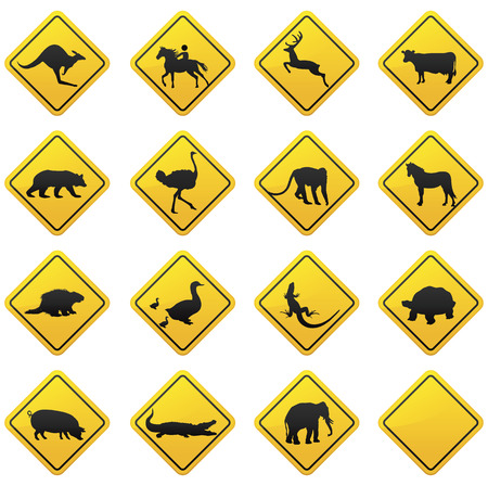 Animal traffic sign  Vectores