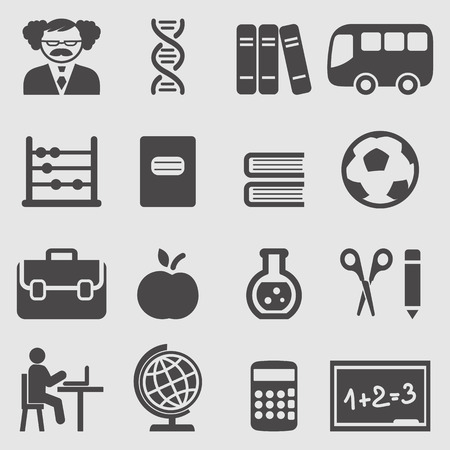 lap top: School icons set