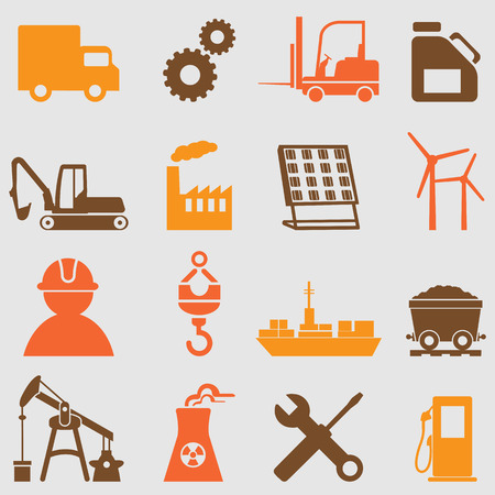 industry icon: Industry icons set