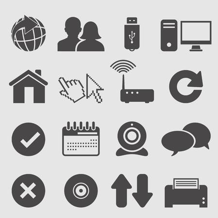 Internet icons set Illustration