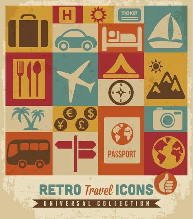foto carnet: Los iconos de viajes a configurar Vectores