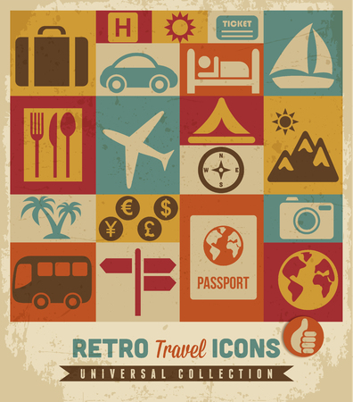 Travel icons set