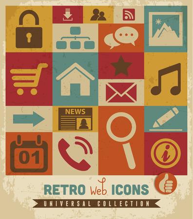 Web icons set Иллюстрация