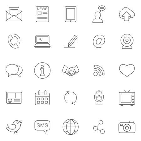 Communication line icons set.Vector