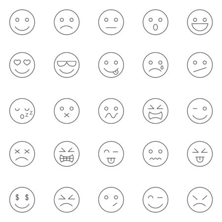 感情線のアイコンを設定します。ベクトル  イラスト・ベクター素材