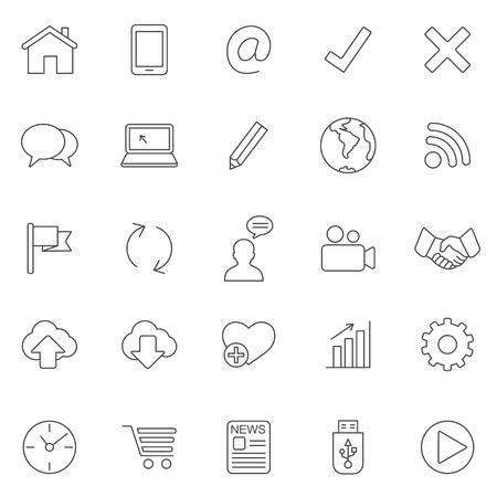 Internet line icons.Set 2.Vector Иллюстрация
