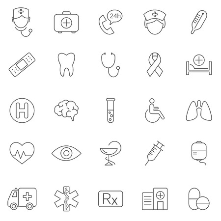 doctor vector: Medical line icons set.Vector