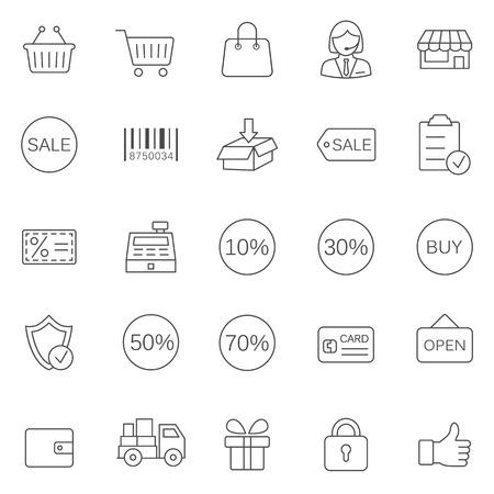 Sale line icons set.Vector