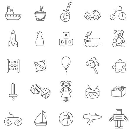 Toy line icons set.Vector Иллюстрация