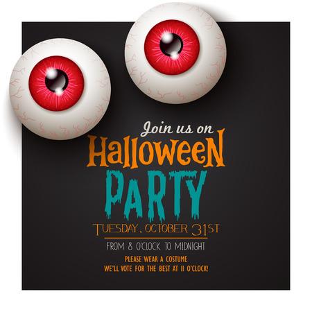 Halloween invitation card