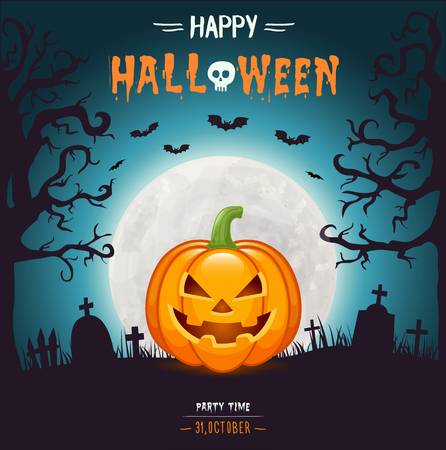 Halloween party flyer Иллюстрация