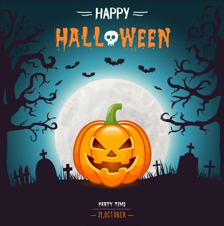 Halloween party flyer Vectores